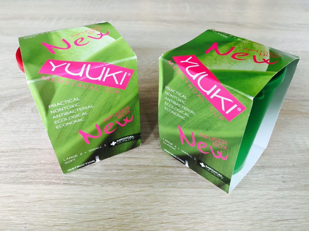 Größen der Menstruationstasse Yuuki Cup