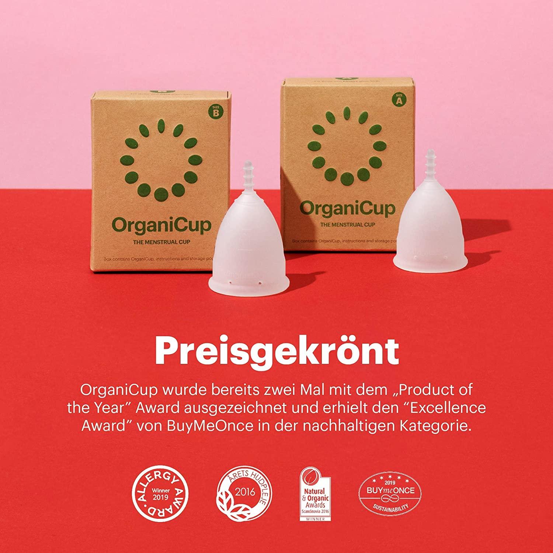 Preisgekrönte Menstruationstasse OrganiCup